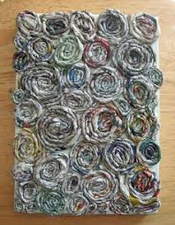Coiled Newspaper Yarn Art Project Created For My Upcycled Seminar I Wonder How Fabric Scraps Would Work