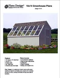 10x14 Garden Shed Plans by 10 U0027 X 14 U0027 Backyard Storage Shed Garden Greenhouse Project Plans
