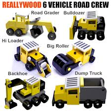 100 Construction Trucks ReallyWood Road Crew Six Wood Toy Plans 3 PDF Downloads