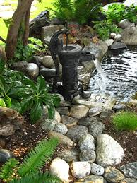 An Old Water Pump Makes Just The Right Splash... | Diy | Pinterest ... Outdoor Fountains At Lowes Pictures With Charming Backyard Expert Water Gardening Pond Pump Filter Solutions For Clear Backyards Mesmerizing For Water Fountain Garden Pumps Total Pond 70 Gph Pumpmd11060 The Home Depot Large Yard Outside Fountain Have Also Turned An Antique Into A Diy Bubble Feature Ceramic Sphere Pot Sunnydaze Solar Pump And Panel Kit 80 Head Medium Oput 1224v 360 Myers Well Youtube