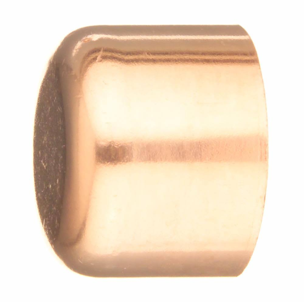 Elkhart Copper Tube Cap - Copper, 0.5""