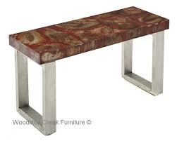 Zinc Sofa Table With Stainless Steel Base