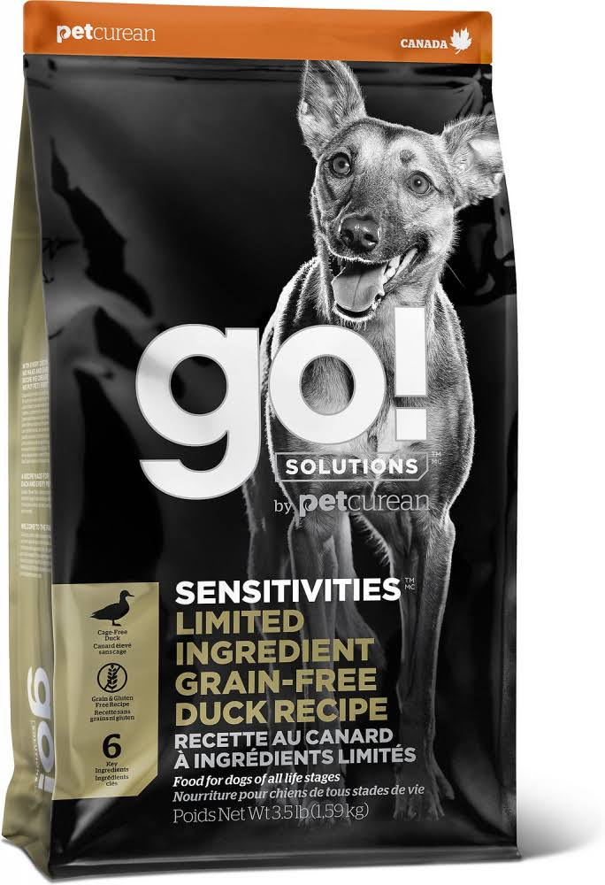Go! Solutions Sensitivity + Shine Duck Recipe Dry Dog Food, 3.5-lb