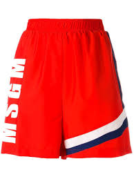 msgm ruffle trimmed denim shorts women u0027s size 42 black cotton