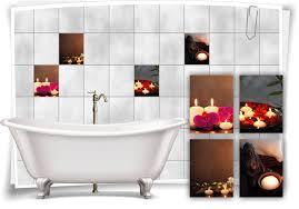 fliesen aufkleber spa wellness orchidee kerze buddha steine blumen bad wc deko