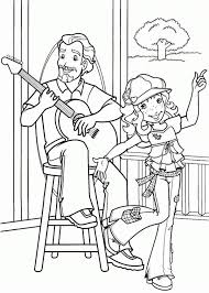Holly Hobbie And Her Cool Uncle Dave Playing Guitar Coloring Pages