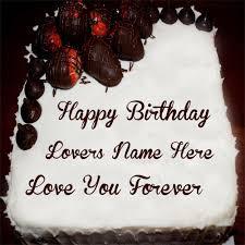 Nice Strawberry Chocolate Cakes Lovers Birthday Wishes Name Pixs