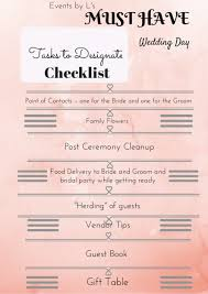 Events By Ls Brides Guide Must Have Wedding Day Checklist Free Printable
