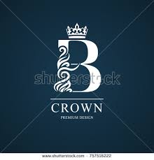 Elegant Letter B Graceful Royal Style Calligraphic Beautiful Logo Vintage Drawn Emblem For