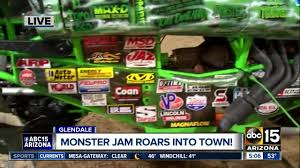 99 Monster Trucks In Phoenix Jam Roars Into Glendale On Saturday