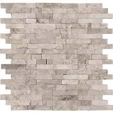 tundra gray splitface interlocking pattern colonial marble granite