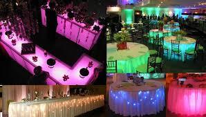 Under Table Lights Party Decoration 658x374 Pixels