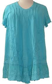 gretty zueger turquoise cap sleeve plus size tunic accented with