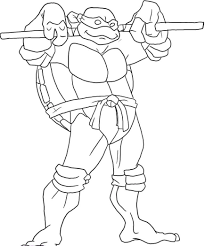 Ninja Turtles Coloring Pages Donatello