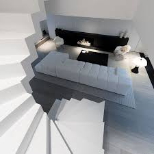 canapé design blanc maison contemporaine design blanc intérieur moderne salon