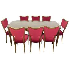 Italian Mid Century Dining Set With Eight Chairs