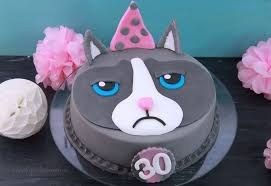 grumpy cat motivtorte katzen torte geburtstagstorte mit