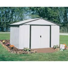 arrow galvanized steel storage shed 10x8 arrow storage building 10ft x 8ft arlington model ar108