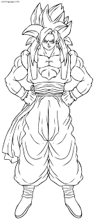 Dragon Ball Z Goku Coloring Pages Printable