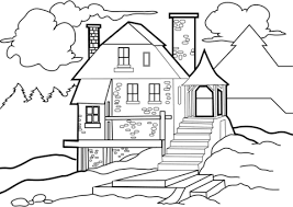 Click To See Printable Version Of House In The Wilderness Coloring Page