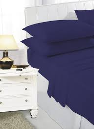 Bed Sheet Material by Percale Fitted Sheet Navy Blue Double Size Bed Sheet 180 Thread