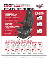 100 Semi Truck Seats Minimizer 101363 Ultra Leather With Heat And Massage Heavy Duty