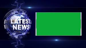 LATEST NEWS Text Animation And Earth Rendering Background With Green Screen Loop 4k Motion