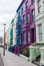 100 Notting Hill Houses Colourful In London Stock Photo Picture And