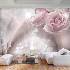 vlies fototapete blumen abstrakt rosa tapete wandbild