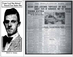 When Did The Lusitania Sink by Indianapolis Collected A Message From A Dead Friend Historic