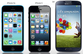 iPhone 5s vs iPhone 5c vs iPhone 5 vs Samsung Galaxy S4 parison