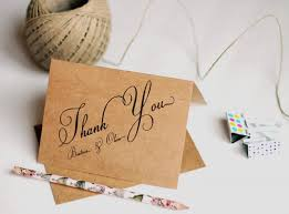Rustic Thank You Cards Wedding Notes Personalized Kraft Set