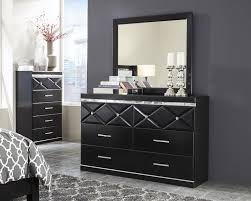6 Drawer Dresser With Mirror by 6 Drawer Dresser With Faux Crystal Accents U0026 Mirror By Signature