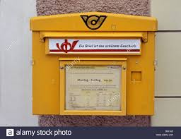 Yellow Mail Box Of The Austrian Post Office Stock Photo 17232829