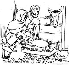 Bible Christmas Story Coloring Pages
