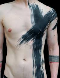 Simple Cross Tattoos For Men Chest On