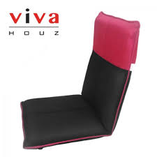 VIVA HOUZ VENUS Futon/Sofa/Chair (3D Mesh Fabric Cover) Black/Pink