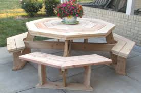 Building Plans For Hexagon Picnic Table by Free Picnic Table Plans