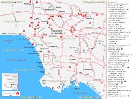 Los Angeles Top Tourist Attractions Map California Location Beach Guide Spot Must Do Place Farmers Market
