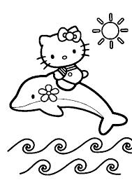 Free Coloring Pages Of Hello Kitty Bow
