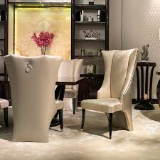 Upholstered High Back Dining Chairs Home Design For Modern Household Room