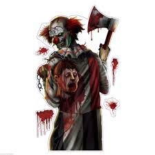 Carnival Scene Setters Halloween by Killer Clown Halloween Creepy Carnival Circus Party Wall Grabber