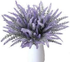 litzee 8 bündel schöne lila lavendel bouquet dekorative künstliche pflanzen künstliche blumen simulation blumen real für schlafzimmer fensterbank
