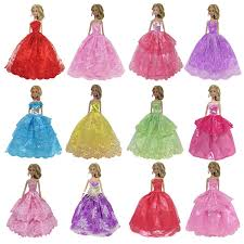 EC2TOY 10 Pcs Doll Clothes Party Gown Dress Fit For 115