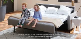 Bobs Benton Sleeper Sofa by American Leather Custom Luxury Furniture
