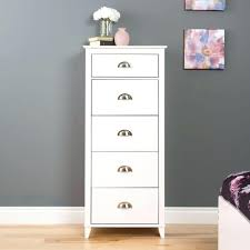 dressers alpine white high gloss 5 drawer chest babyletto modo 5