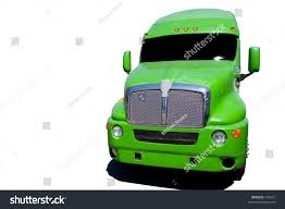 Big Green Semi Truck Isolated On Stock Photo (Edit Now) 546527 ...