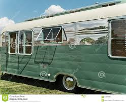 100 Restored Travel Trailer Classic Recreational Vehicle Stock Image Image Of Patterns