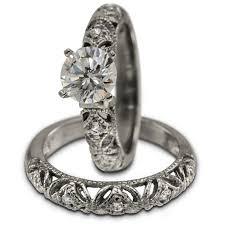 Art Deco Bridal Sets 3 4Ct Vintage Filigree Wedding Jewelry In 14K