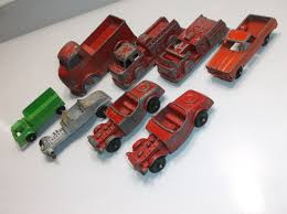 100 Tootsie Toy Fire Truck VINTAGE 8 Piece Car Lot Midge